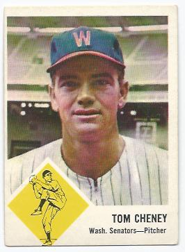 1963 Fleer #27 Tom Cheney