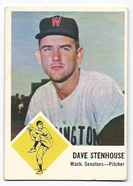 1963 Fleer #30 Dave Stenhouse