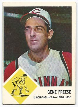 1963 Fleer #33 Gene Freese