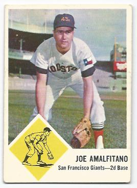 1963 Fleer #36 Joe Amalfitano