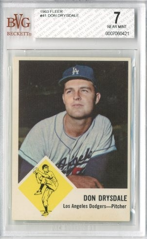 1963 Fleer #41 Don Drysdale