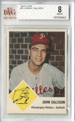 1963 Fleer #51 Johnny Callison
