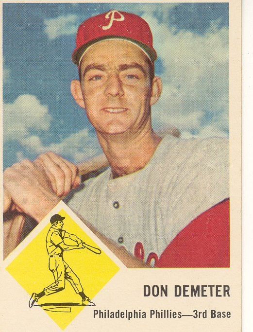 1963 Fleer #53 Don Demeter
