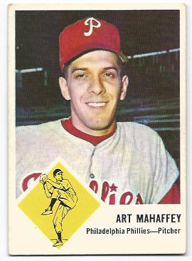 1963 Fleer #54 Art Mahaffey