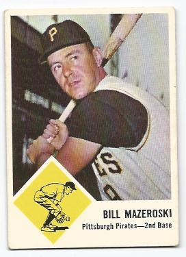 1963 Fleer #59 Bill Mazeroski
