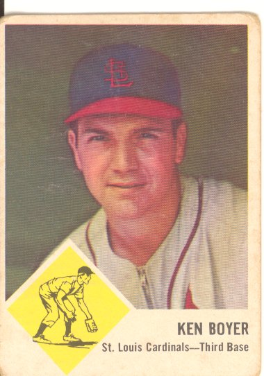 1963 Fleer #60 Ken Boyer