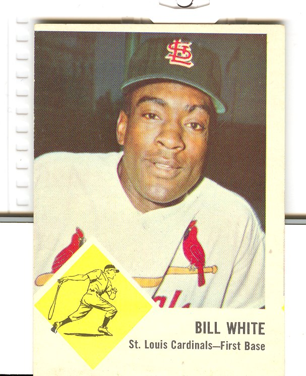 1963 Fleer #63 Bill White