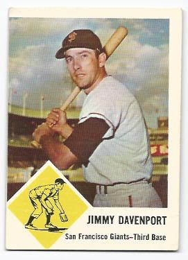 1963 Fleer #65 Jim Davenport