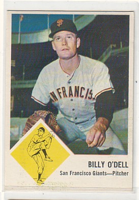 1963 Fleer #66 Billy O'Dell