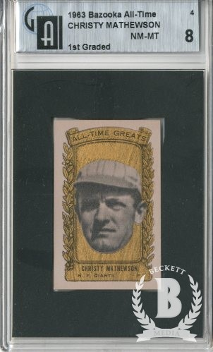 1963 Bazooka ATG #4 Christy Mathewson