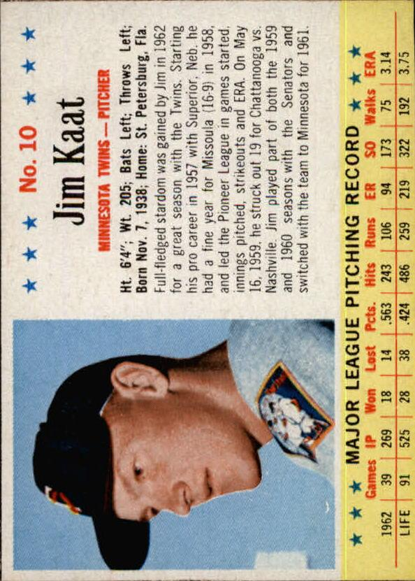 1963 Post #10 Jim Kaat
