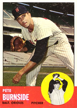 1963 Topps #19 Pete Burnside