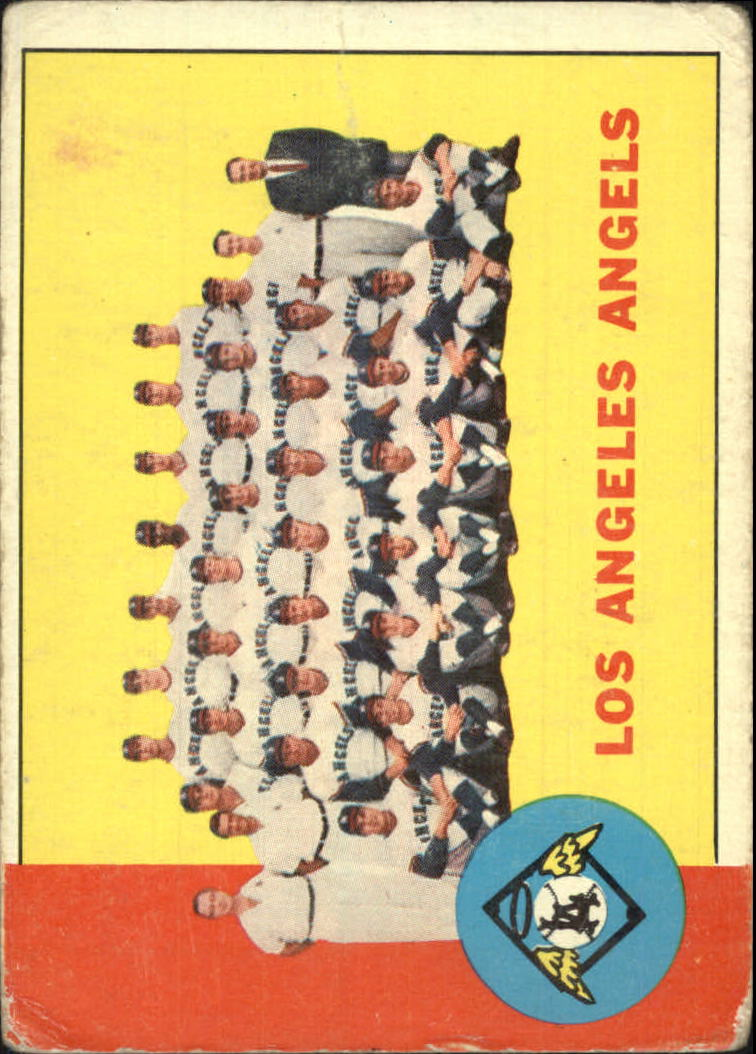 1963 Topps #39 Los Angeles Angels TC