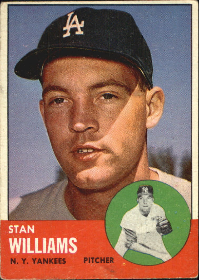 1963 Topps #42 Stan Williams/(Listed as a Yankee, but wearing an LA cap)