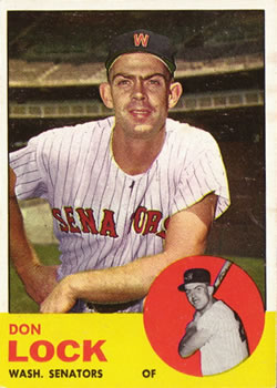 1963 Topps #47 Don Lock RC
