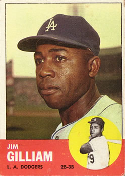 1963 Topps #80 Jim Gilliam