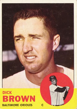 1963 Topps #112 Dick Brown