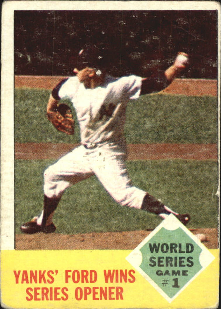 1963 Topps #142 World Series Game 1/Whitey Ford