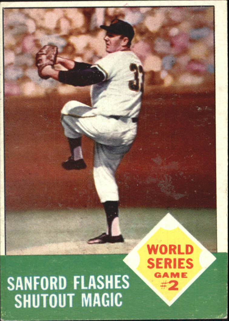1963 Topps #143 World Series Game 2/Jack Sanford