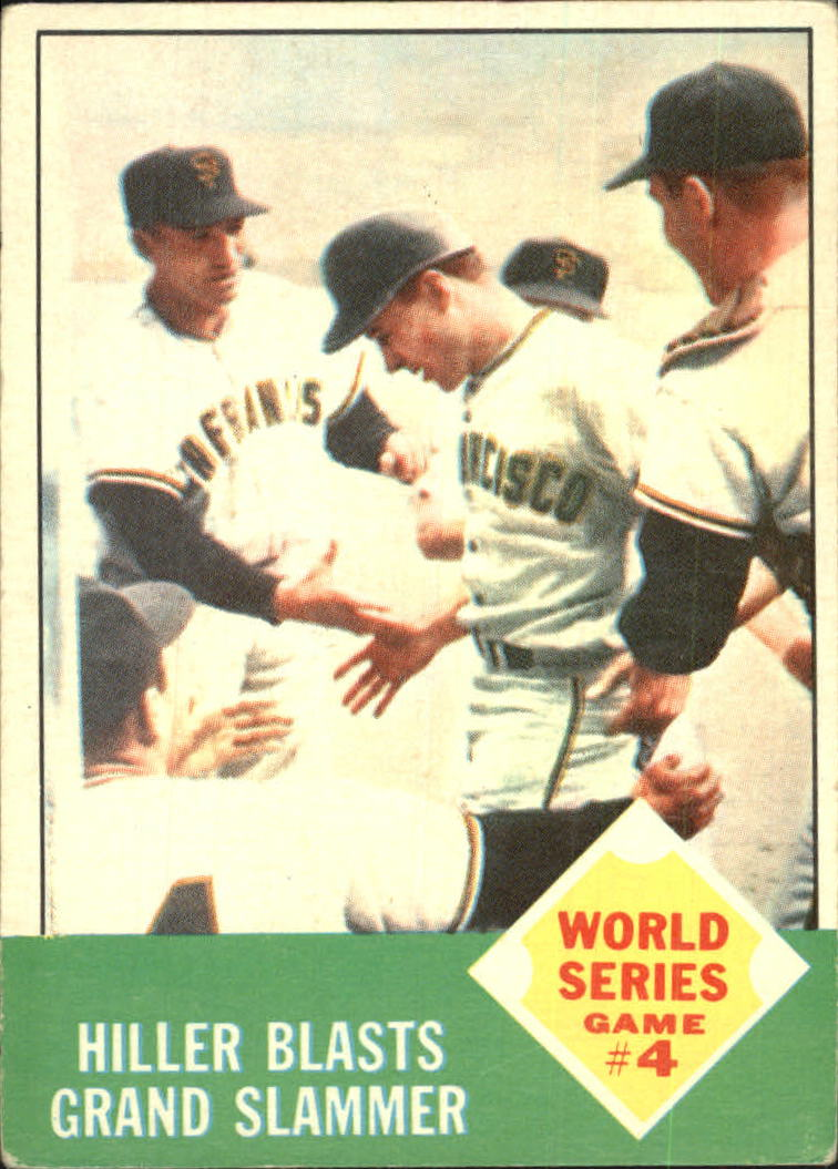 1963 Topps #145 World Series Game 4/Chuck Hiller