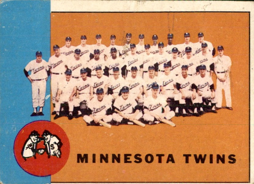 1963 Topps #162 Minnesota Twins TC