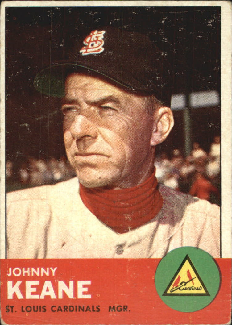 1963 Topps #166 Johnny Keane MG