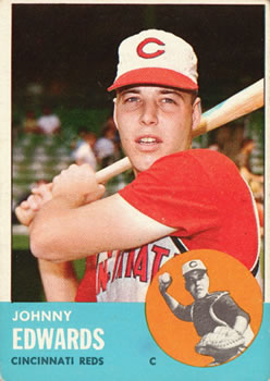 1963 Topps #178 Johnny Edwards