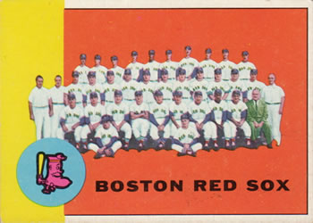 1963 Topps #202 Boston Red Sox TC