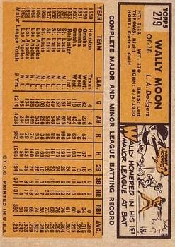 1963 Topps #279 Wally Moon