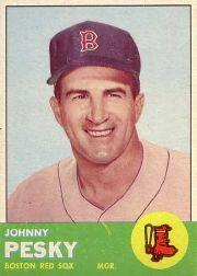 1963 Topps #343 Johnny Pesky MG front image