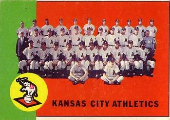 1963 Topps #397 Kansas City Athletics TC