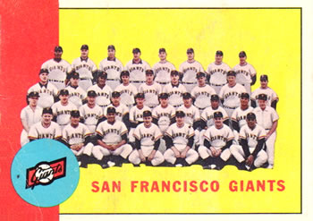 1963 Topps #417 San Francisco Giants TC