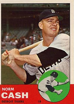 1963 Topps #445 Norm Cash