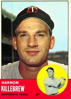 1963 Topps #500 Harmon Killebrew SP
