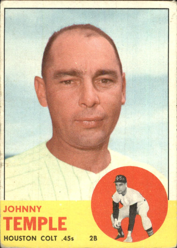 1963 Topps #576 Johnny Temple front image