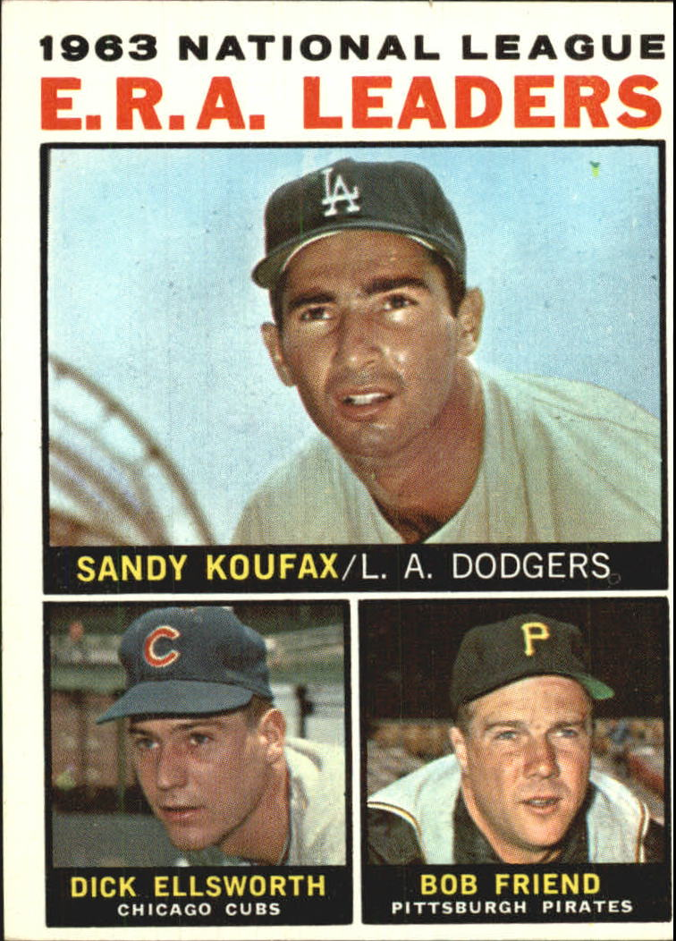 1964 Topps #1 NL ERA Leaders/Sandy Koufax/Dick Ellsworth/Bob Friend