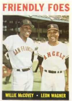 1964 Topps #41 Friendly Foes/Willie McCovey/Leon Wagner