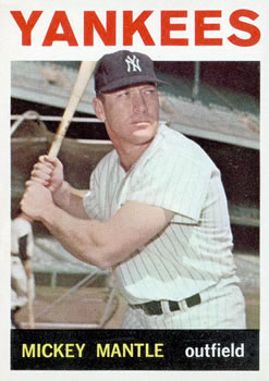 1964 Topps #50 Mickey Mantle front image
