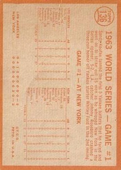 1964 Topps #136 World Series Game 1/Sandy Koufax back image