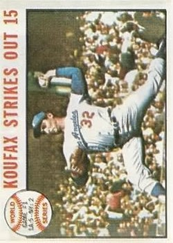 1964 Topps #136 World Series Game 1/Sandy Koufax front image