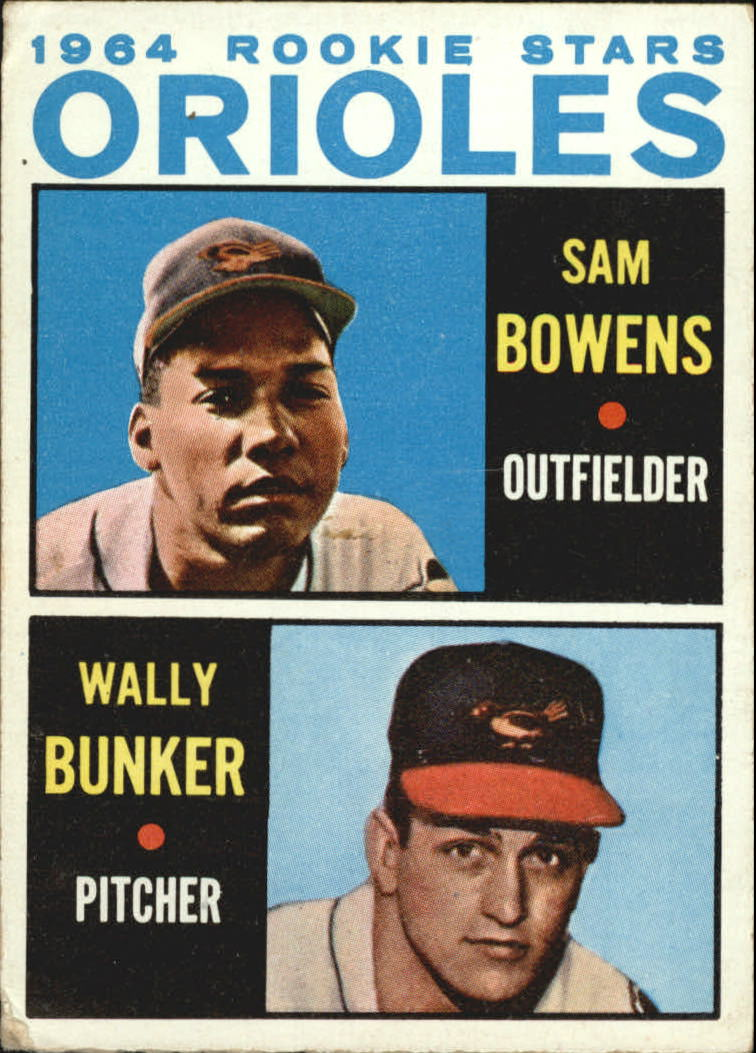 1964 Topps #201 Rookie Stars/Sam Bowens RC/Wally Bunker RC