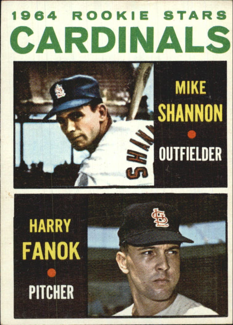 1964 Topps #262 Rookie Stars/Mike Shannon RC/Harry Fanok