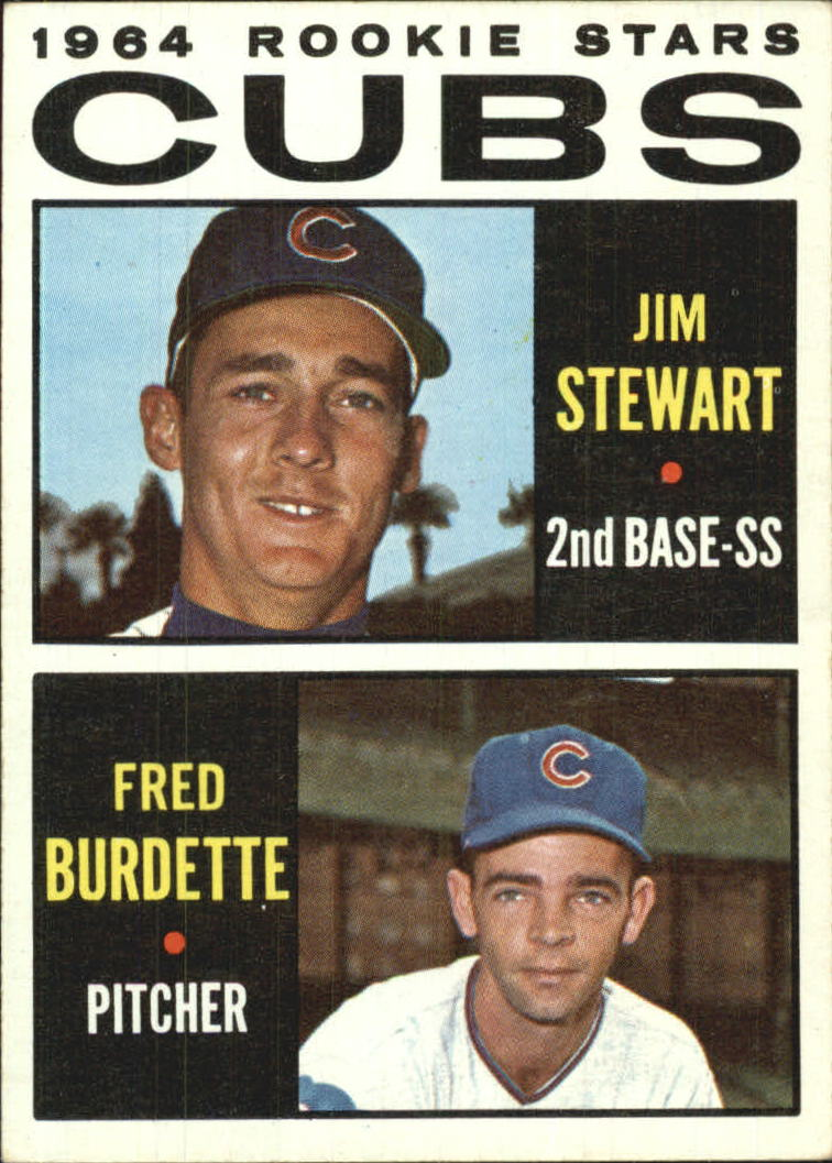 1964 Topps #408 Rookie Stars/Jim Stewart RC/Fred Burdette RC