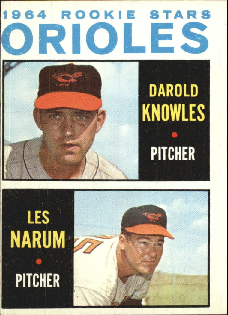 1964 Topps #418 Rookie Stars/Darold Knowles RC/Buster Narum RC