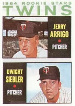 1964 Topps #516 Rookie Stars/Jerry Arrigo RC/Dwight Siebler RC