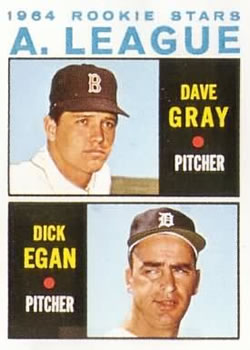 1964 Topps #572 Rookie Stars/Dave Gray RC/Dick Egan