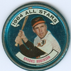 1964 Topps Coins #125 Brooks Robinson AS