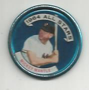 1964 Topps Coins #131B Mickey Mantle AS Left Handed