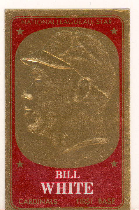 1965 Topps Embossed #43 Bill White