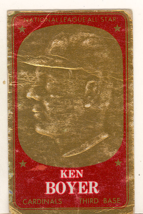 1965 Topps Embossed #47 Ken Boyer